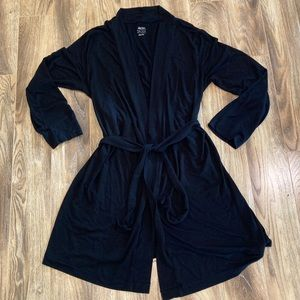 Gilligan & O'Malley Black Knit Short Robe XL/XXL